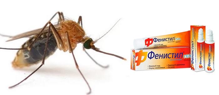 Фенистил при укусе насекомых